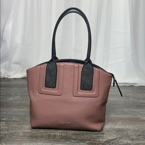 Nicole Miller Pink/Purple Double Strap Handbag